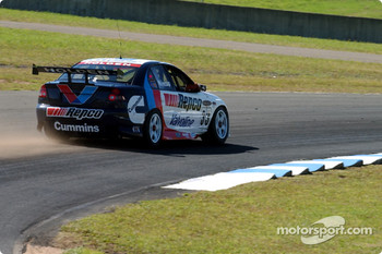 Rookie Jamie Whincup runs wide