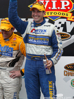 Podium: race winner Marcos Ambrose