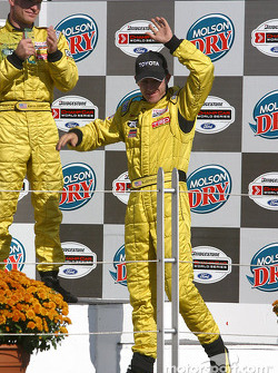 Podium: race winner A.J. Allmendinger