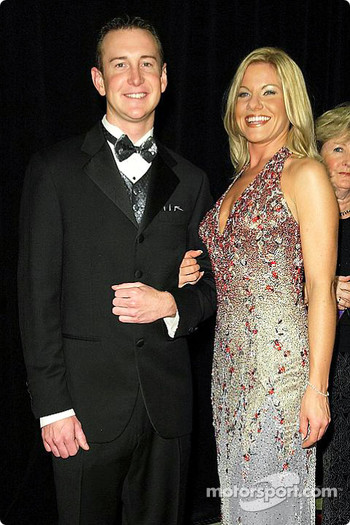 Kurt Busch with his girlfriend