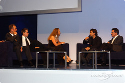 BMW Motorsport party: Jorg and Dirk Muller, Barbara Schoeneberger, Alex Zanardi and Dr Mario Theissen