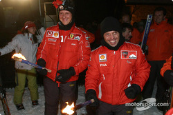 Michael Schumacher and Loris Capirossi