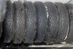 Stack of snow tires