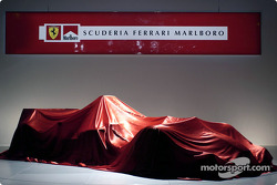 The new Ferrari F2004 ready to be unveiled