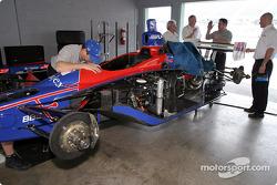 Andretti Green Racing garage area