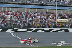 Dale Earnhardt Jr. takes checkered flag