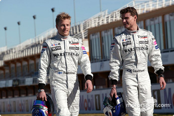 Kimi Raikkonen and David Coulthard