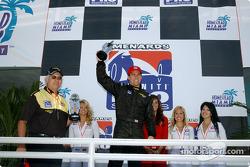 Race winner Phil Giebler celebrates