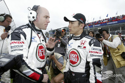 Takuma Sato talks with Jock Clear