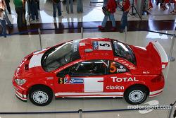 Peugeot 307WRC on display