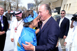 Fernando Alonso with King Juan Carlos of Spain