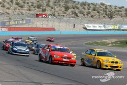 Start: #95 Turner Motorsport BMW 330i: Will Turner, Don Salama, and #2 Team Lexus Lexus IS300: Ian James, Chuck Goldsborough