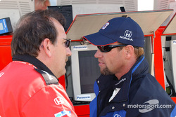 Access Motorsports team owner Ted Bitting with Greg Ray