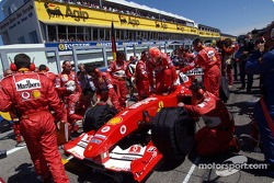 Michael Schumacher on the starting grid