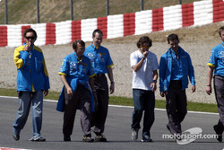 Track inspection for Fernando Alonso