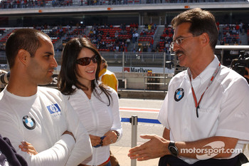 Juan Pablo Montoya with wife Connie and Dr Mario Theissen