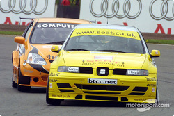 Jason Plato leads Matt Neal