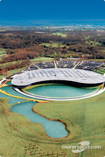 Aerial view of the McLaren Technology Centre