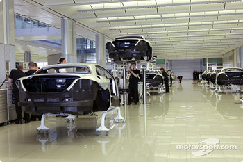 McLaren Cars: the Mercedes-Benz SLR McLaren production area