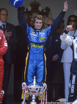 Podium: race winner Jarno Trulli