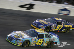 Kyle Petty and Kurt Busch