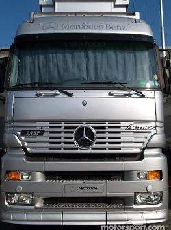 McLaren-Mercedes transporters