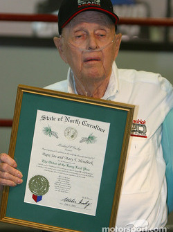 Papa Joe Hendrick award event: Papa Joe Hendrick and the Order of the Long Leaf Pine