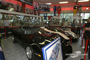 Visit of Hendrick Motorsports: cars on display in the museum