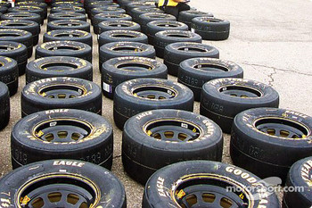 A sea of tires