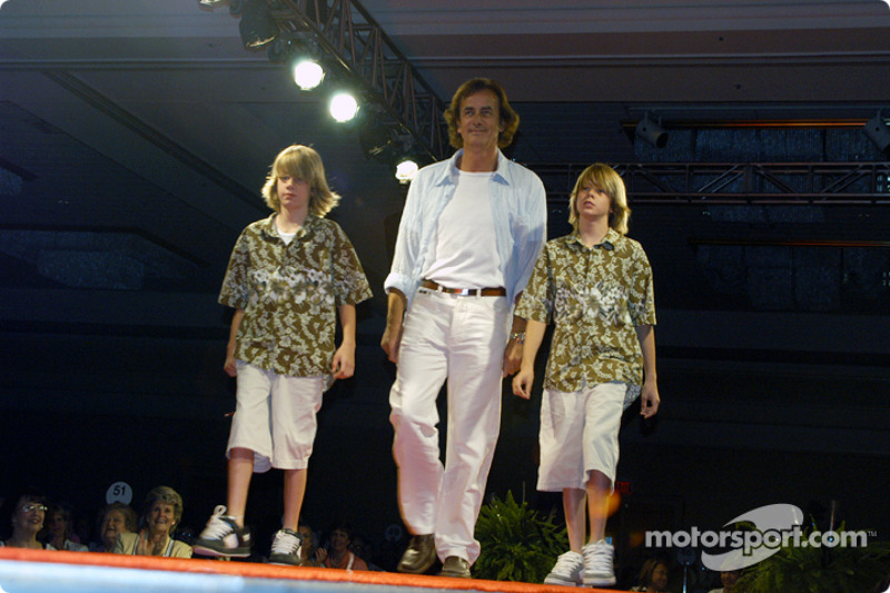 Arie Luyendyk and sons Luca and Alex