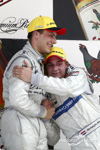 Podium: race winner Gary Paffett with Christijan Albers