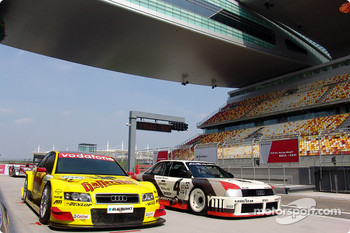 Audi A4 DTM and Audi 90 IMSA-GTO on the new Shanghai International Circuit