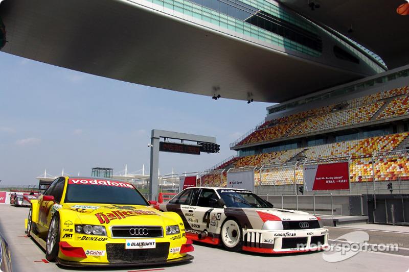 Audi A4 DTM and Audi 90 IMSA-GTO on the new Shanghai International Circuit