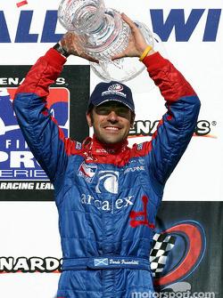 Victory lane: race winner Dario Franchitti