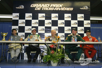 Press conference: Ron Fellows, Tomy Drissi, Paul Gentilozzi, Tommy Kendall and Garrett Kletjian