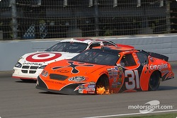 Robby Gordon's tire catches fire
