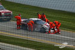 Jason Leffler's wrecked car