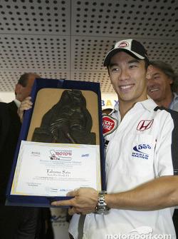 Takuma Sato receives Confartigianato Motori Prize Award