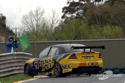 Anthony Tratt spins at turn 4