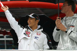 Drivers parade: Takuma Sato