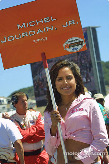 Michel Jourdain Jr.'s grid girl