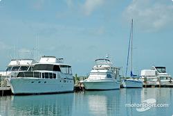 Boats at dock Florida bay