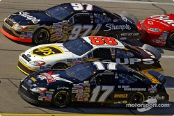 Kurt Busch, Dale Jarrett and Matt Kenseth