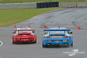 #77 G&W Motorsports Porsche GT3 RS: Mark Greenberg, Spencer Pumpelly, #66 The Racers Group Porsche GT3 RS: Ian James, RJ Valentine, Chris Gleason