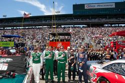Crew during pre-race ceremonies