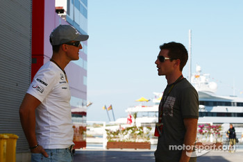 Michael Schumacher, Mercedes GP and Anthony Davidson