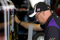 Joe Gibbs Racing Toyota team member at work