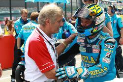 Giacomo Agostini and Loris Capirossi, Rizla Suzuki MotoGP