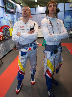 Olivier Panis and Loic Duval