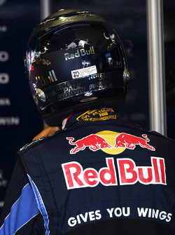 Sebastian Vettel, Red Bull Racing with a new helmet